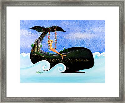 Swing On Whaleback Hill Framed Print by Theresa LaBrecque