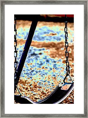 Swing Framed Print by Peter  McIntosh