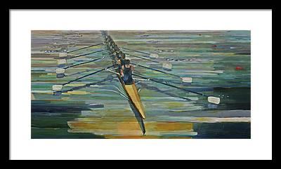 Rowing Framed Prints