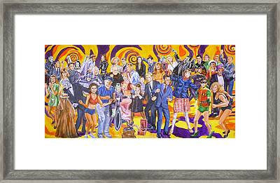 Swingin' Sixties Television Framed Print by Bryan Bustard