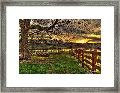Swing Swang Swung Sunset Framed Print by Reid Callaway