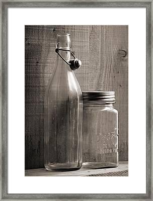 Jar And Bottle  Framed Print