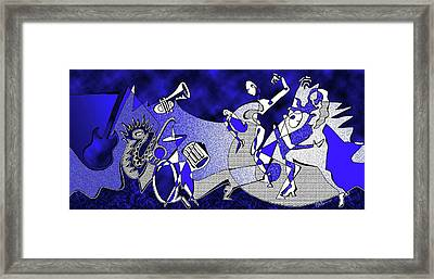 Swingin' At The Mobius Strip - Wide Version Framed Print