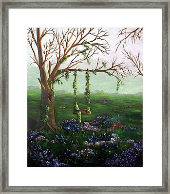 Swingin' With The Flowers Framed Print