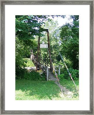 Swinging Bridge Framed Print by Eddie Armstrong