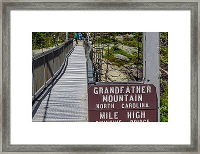 Swinging Bridge Framed Print by Patricia Brock
