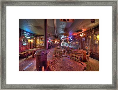 Swinging Doors At The Dixie Chicken Framed Print