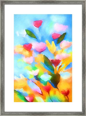 Swinging Flowers Framed Print by Lutz Baar