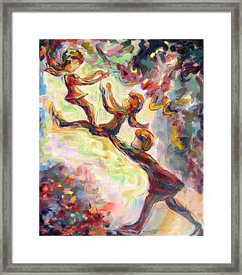 Swinging High Framed Print by Naomi Gerrard
