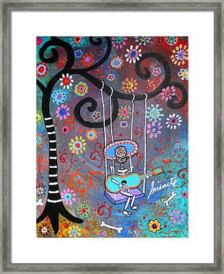 Swinging Mariachi Framed Print by Pristine Cartera Turkus