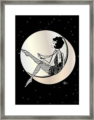 Swinging On The Moon Framed Print by Cecely Bloom