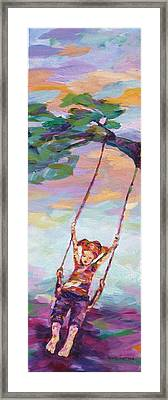 Swinging With Sunset Energy Framed Print by Naomi Gerrard