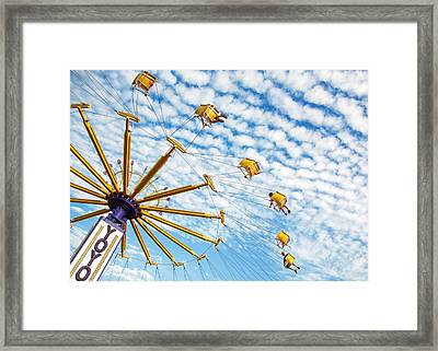 Swings On High Framed Print by Todd Klassy