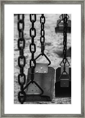 Framed Print featuring the photograph Swings by Richard Rizzo