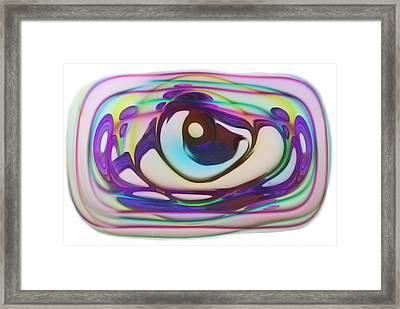 Swirl And Blend Of Color And Form Framed Print by Jack Zulli