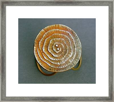 Swirl Bronze Ring Framed Print by Mirinda Kossoff