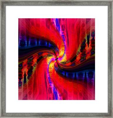 Swirl Delight Framed Print by Cherie Duran