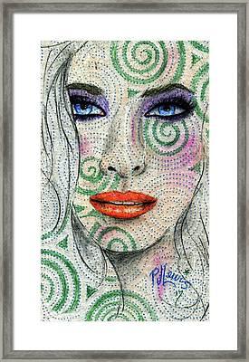 Swirl Girl Framed Print