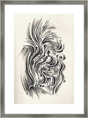 Framed Print featuring the drawing Swirl by Keith A Link