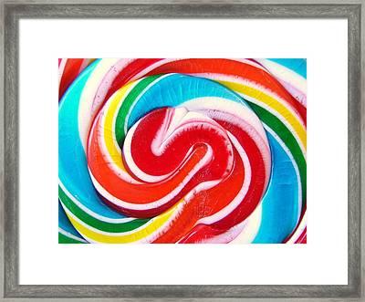 Swirl Of Happiness Framed Print by Jennifer Lauren