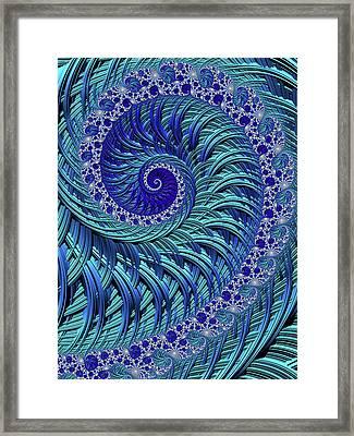 Swirl Pool Framed Print by Susan Maxwell Schmidt