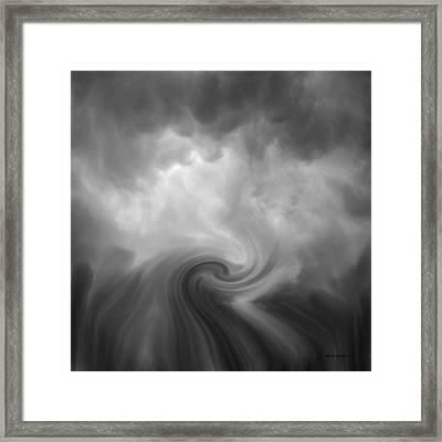 Swirl Wave Vi Framed Print by David Gordon