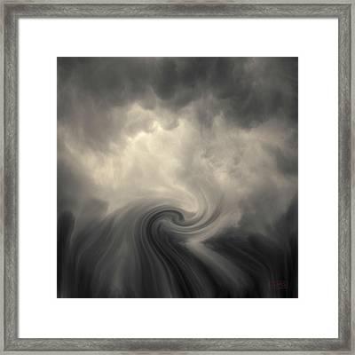Swirl Wave Vi Toned Framed Print by David Gordon