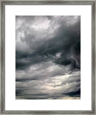 Swirling Clouds Framed Print by Stephen Doughten