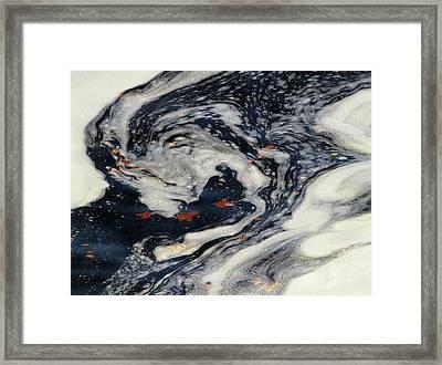 Swirling Current Framed Print