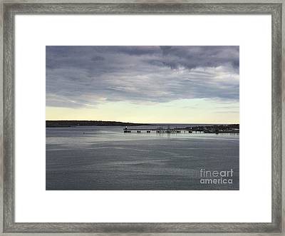 Swirling Currents On Casco Bay Framed Print