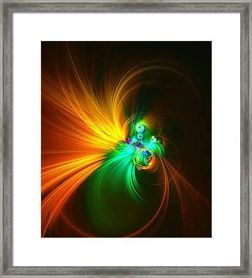 Swirling Fire Framed Print
