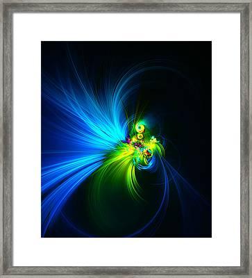 Swirling Ice Blue Framed Print by Georgiana Romanovna