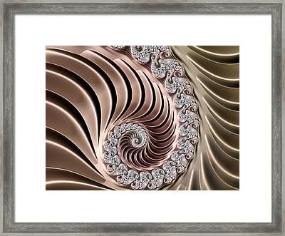 Swirling Lace Framed Print by Georgiana Romanovna