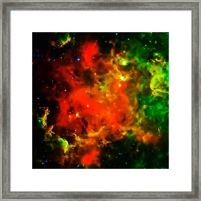 Swirling Landscape Of Stars Framed Print by Britten Adams