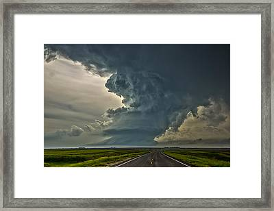 Swirling Skies Framed Print