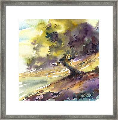 Swirling Tree Framed Print
