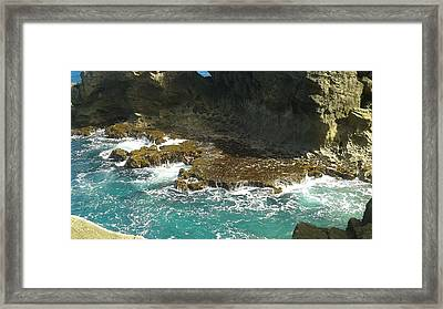 Swirling Waters Framed Print by Christina Heyworth