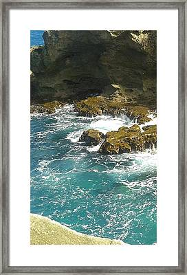 Swirling Waters Triptych A Framed Print by Christina Heyworth