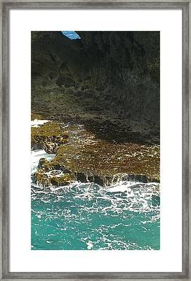 Swirling Waters Triptych B Framed Print by Christina Heyworth