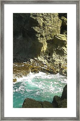 Swirling Waters Triptych C Framed Print by Christina Heyworth