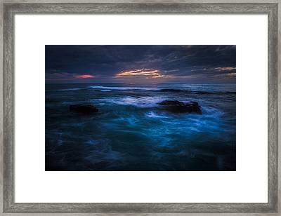 Swirling Waves Framed Print