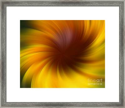 Swirling Yellow And Brown Framed Print