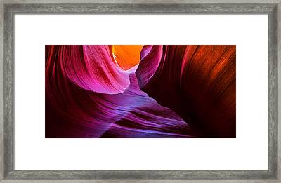 Swirls And Layers Framed Print