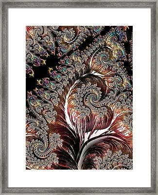 Swirls And Roots Framed Print