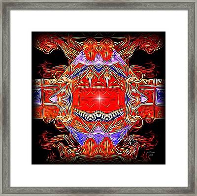 Swirls Of Intensity Framed Print by Majula Warmoth