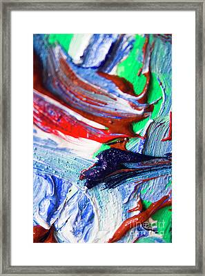 Swirls Of Paint Colors Framed Print