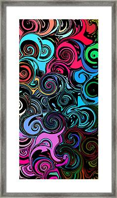 Swirly Abstract 1 Framed Print by Chris Butler