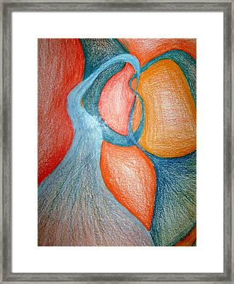 Swirly Opposites Framed Print by Jera Sky