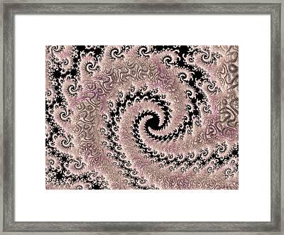 Swirly Pink Fractal Framed Print