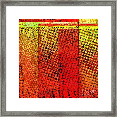 Swirly Pop Art Framed Print